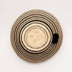 Wayuu hat - Natural Black