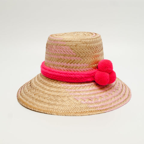 Wayuu hat - Natural Pink