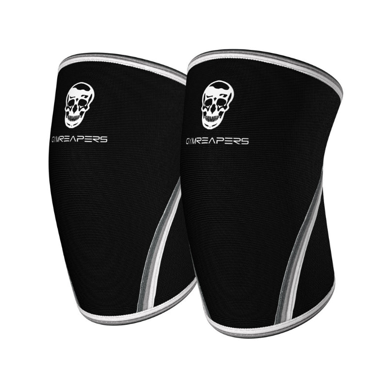 7mm knee sleeves in black and white