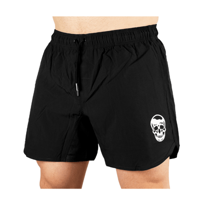 Gymreapers training shorts in black on model