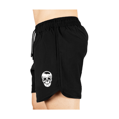 Gymreapers training shorts in black side view