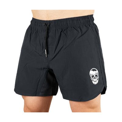 Gymreapers training shorts in gray on model