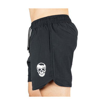Gymreapers training shorts in gray side view