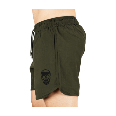 Gymreapers training shorts in green side view
