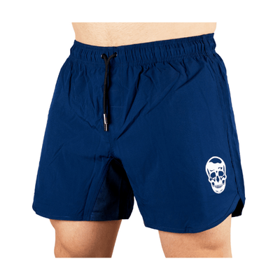 Gymreapers training shorts in navy on model
