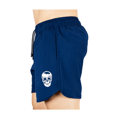 Gymreapers training shorts in navy side view
