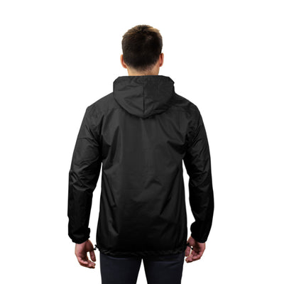 Gymreapers windbreaker in black back view