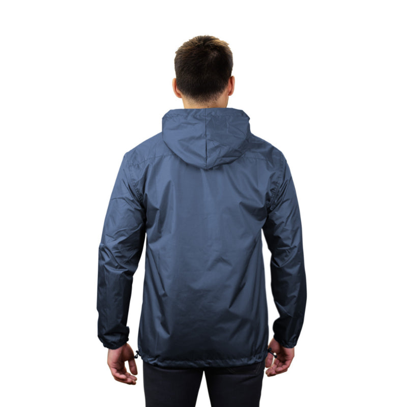 Gymreapers windbreaker in navy on model