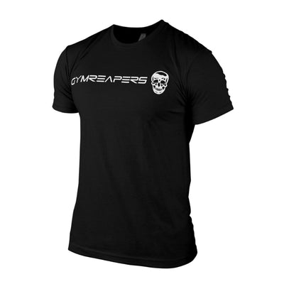 Gymreapers basic shirt in black with white logo