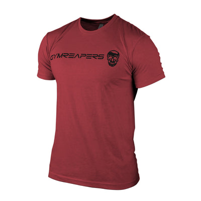Gymreapers basic shirt in cardinal with black logo
