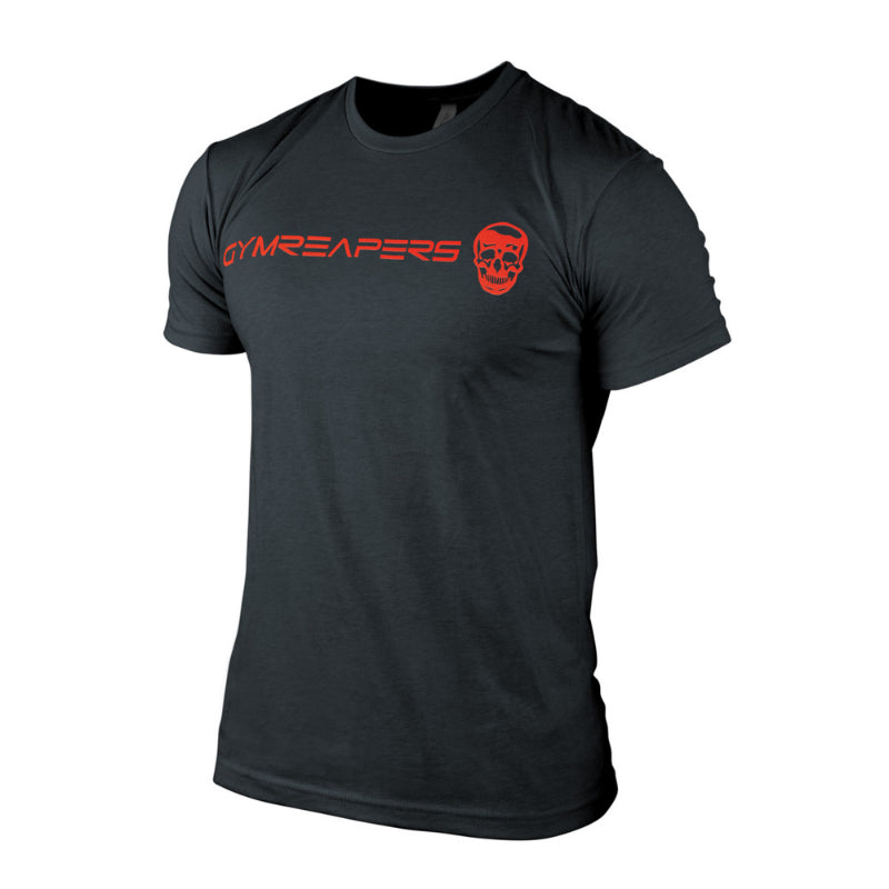 Gymreapers basic shirt in charcoal with red logo
