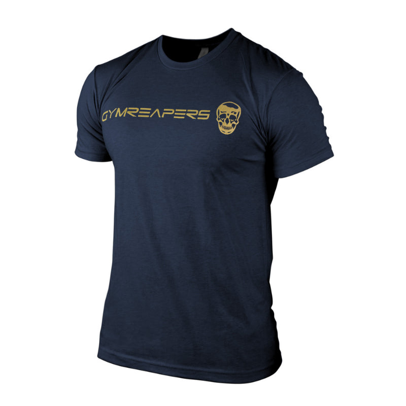 Gymreapers basic shirt in navy with gold print