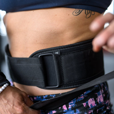 Gymreapers Crossfit Nylon Belt being tested