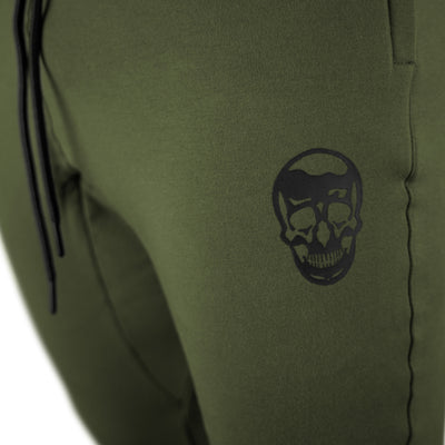 Gymreapers joggers in green color with white logo