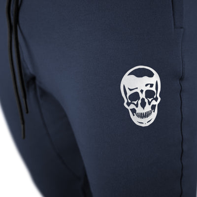 Gymreapers joggers in navy color with white logo