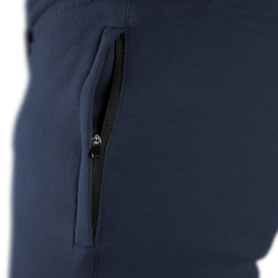 Gymreapers joggers in navy color with zipper detail