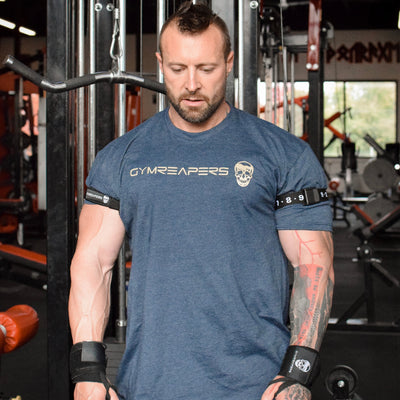 Gymreapers BFR Occlusion Bands worn by Kris Gethin