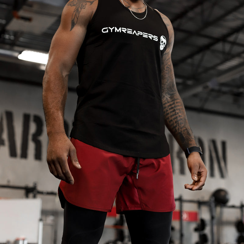 Gymreapers training shorts in burgundy