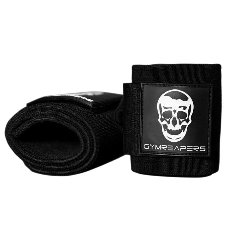 Gymreapers stiff wrist wraps in black