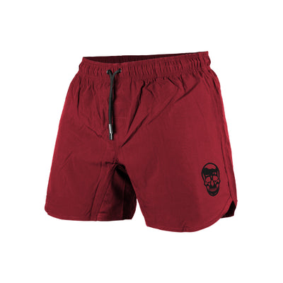 lightweight training shorts in burgundy