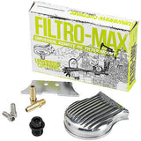Lowbrow Customs Filtromax universal motorcycle remote oil filter mount - Polished