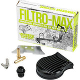Lowbrow Customs Filtromax universal motorcycle remote oil filter mount - Black