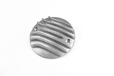 Throwback MC Sportster or Big Twin Cast Aluminum finned ribbed igintion points cover - Horizontal