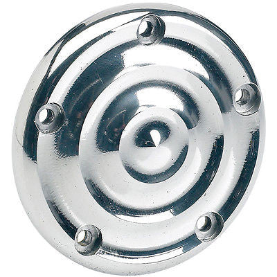 Biltwell Ripple Ignition cover ss 5 hole twin cam Harley 99-current polished