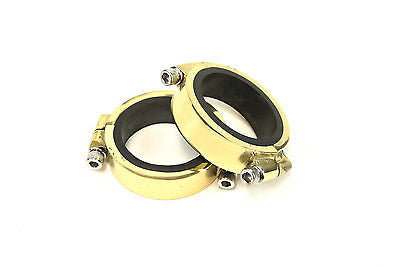 Harley Ironhead & Shovelhead intake manifold clamp & seal kit - band type -Brass