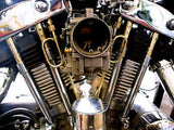 "Old-Stf Harley Ironhead Sportster rocker box oil ""Loop"" line - Brass"