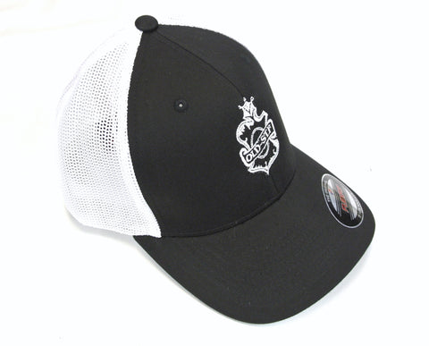 Old-Stf Flex Fit Hat - Black/White