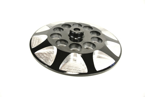 Big twin aluminum clutch pressure plate - Milled - Black