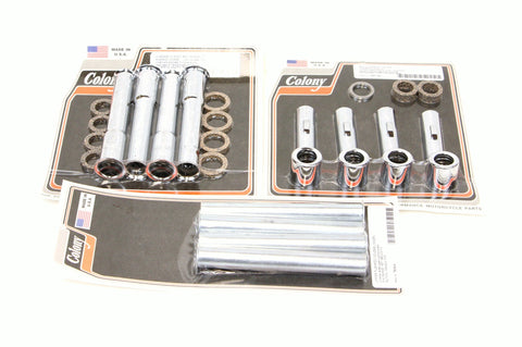 Colony Panhead pushrod tubes covers - Complete set