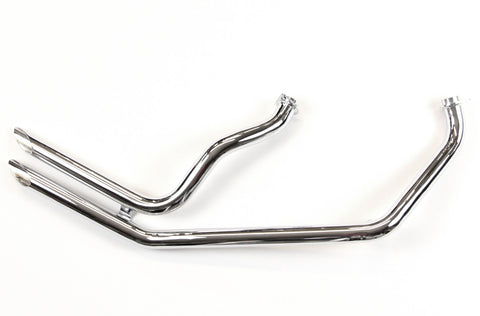 Harley 1970-84 rigid frame Shovelhead up swept drag pipes - exhaust - slash cut