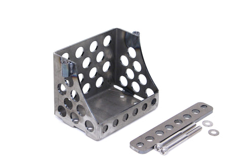 TC Bros Custom Holey motorcycle Battery Carrier Box for YTX14AH or 12N14 Series