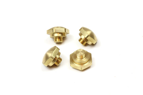 Ironhead & Shovelhead rocker box arm shaft end cap nuts - Brass Standard