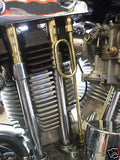 Old-Stf Ironhead Sportster rocker box oil Loop line - Stainless