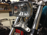 Throwback MC Headlight Mount - narrow glide - Cast Aluminum