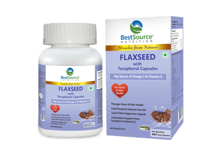 Flaxseed with Tocopherol Capsules - BestSourceNutrition.com
