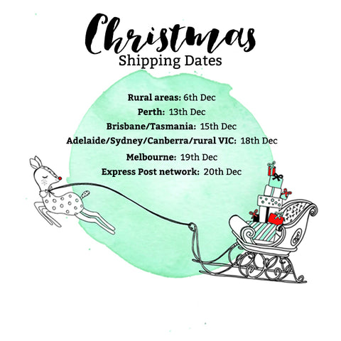 2017 Christmas Shipping Dates