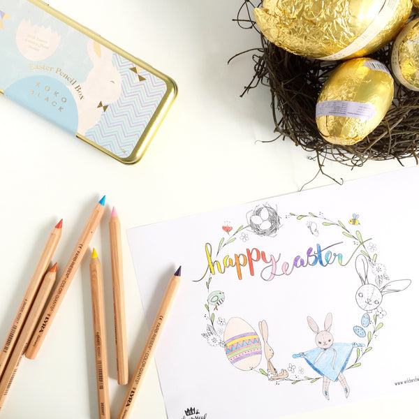 Happy Easter + a Colouring In Page