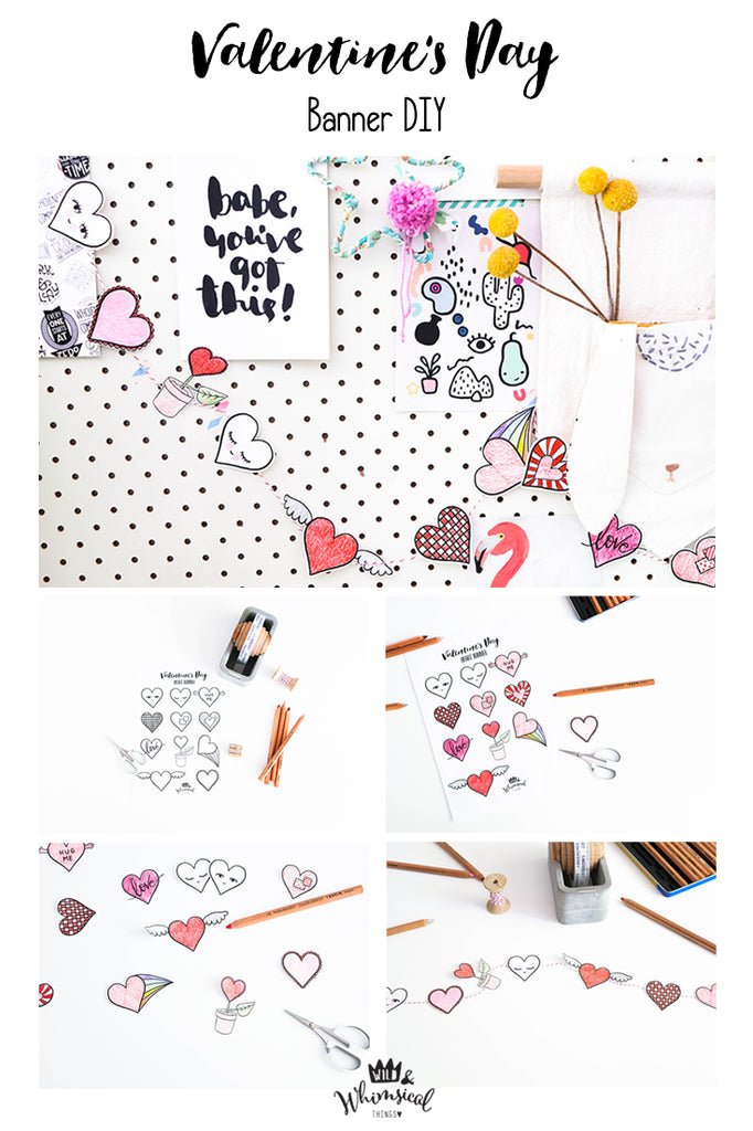 Wild & Whimsical Things Valentine's Day DIY Banner