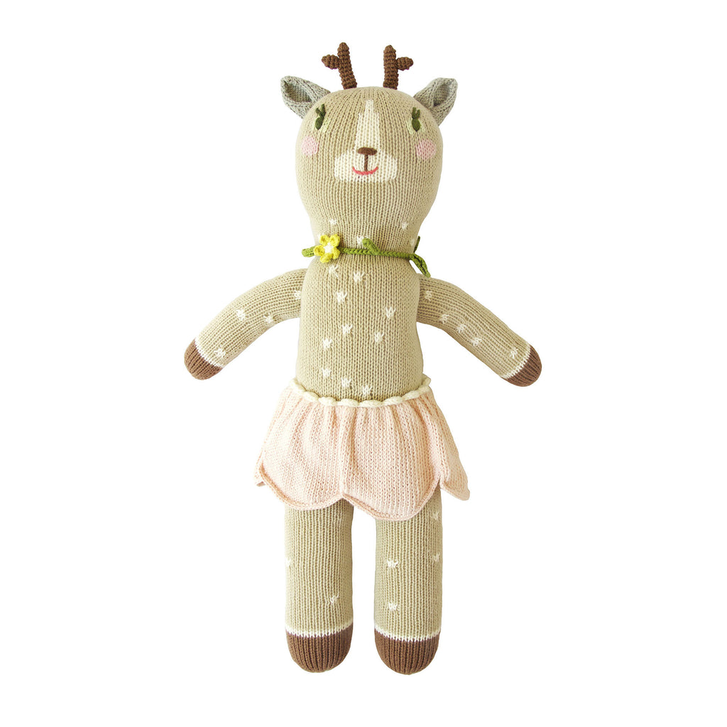 Hazel the Deer Knitted Doll by Blabla | Wild & Whimsical Things www.wildandwhimsicalthings.com.au