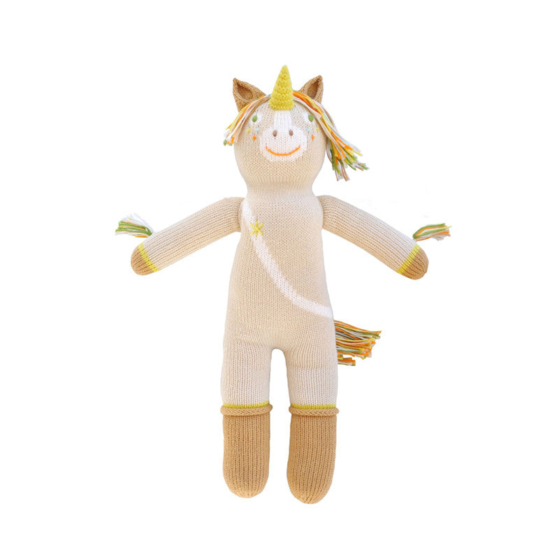 Legend the Unicorn Knit Doll by Bla Bla | Wild & Whimsical Things www.wildandwhimsicalthings.com.au
