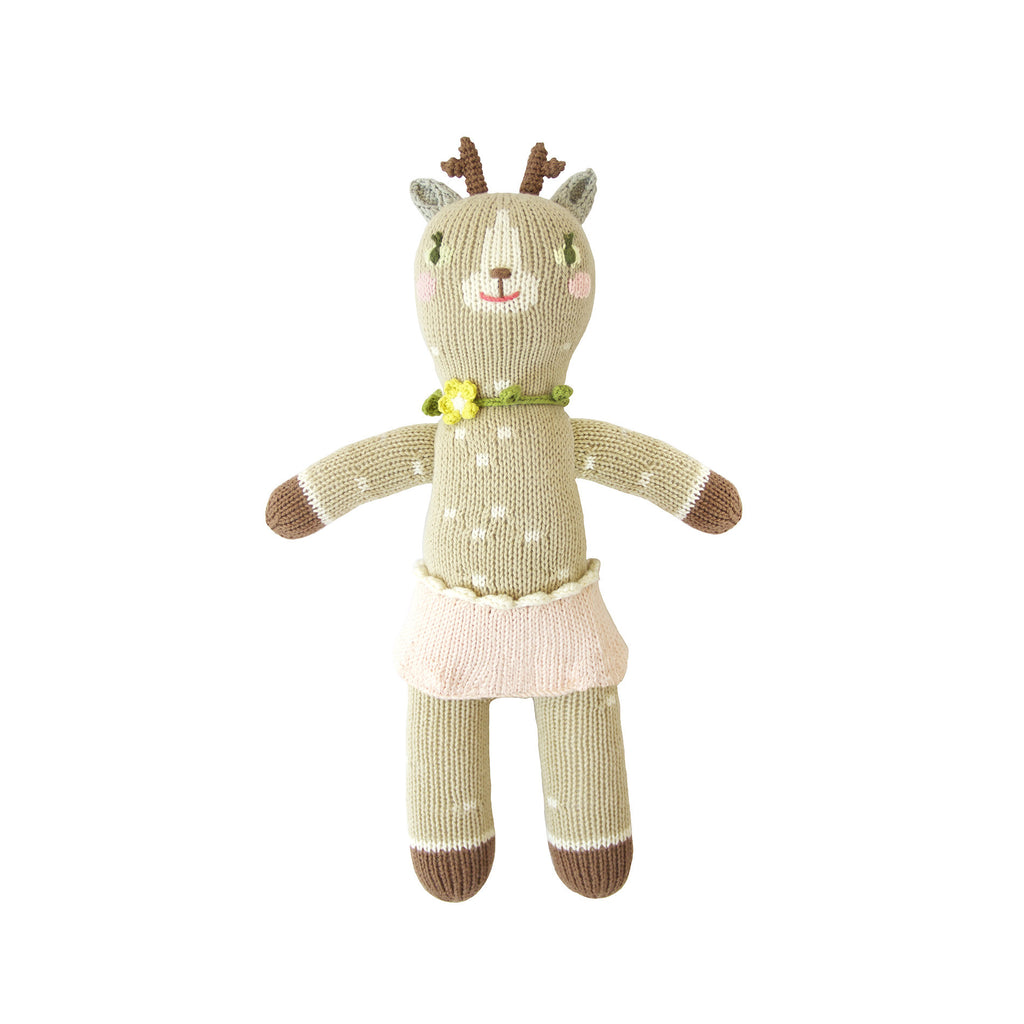 Hazel the deer Mini Knitted Doll by Blabla | Wild & Whimsical Things www.wildandwhimsicalthings.com.au