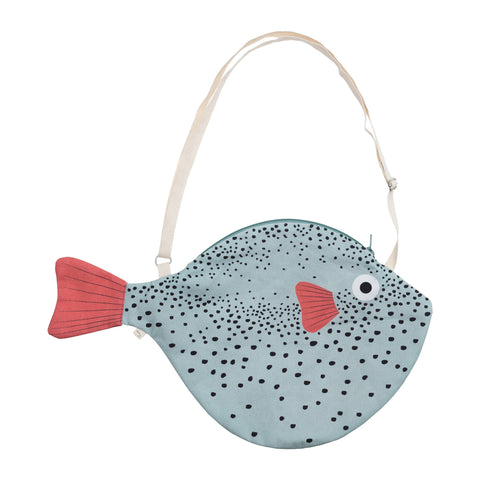 Big Green Puffer Fish Bag by Don Fisher | Wild & Whimsical Things www.wildandwhimsicalthings.com.au