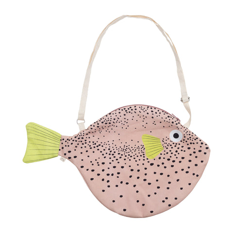 Big Pink Puffer Fish Bag by Don Fisher | Wild & Whimsical Things www.wildandwhimsicalthings.com.au