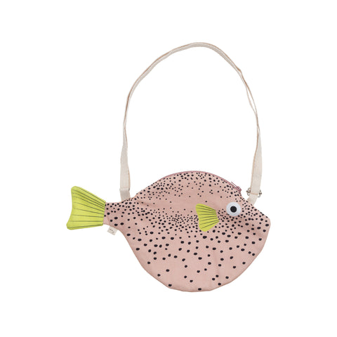 Small Pink Puffer Fish Bag by Don Fisher | Wild & Whimsical Things www.wildandwhimsicalthings.com.au