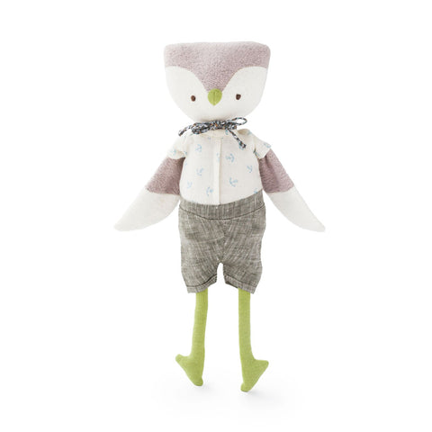 Jeremy Owl in Liberty Bow Tie Outfit by Hazel Village | Wild & Whimsical Things www.wildandwhimsicalthings.com.au