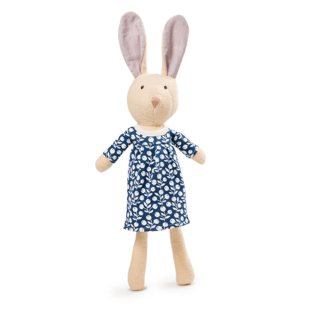 Juliette Rabbit in Blueberry dress by Hazel Village | Wild & Whimsical Things www.wildandwhimsicalthings.com.au